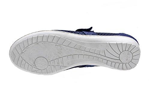 Marine Semelle Et Piesanto Chaussures Confortable Fermeture Femme Amovible Avec Pour Large Bleu En 8756 Cuir Velcro xxZw0zUf