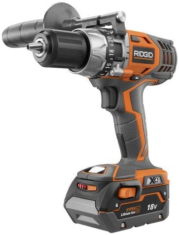 Ridgid ZRR8611501K 18V Cordless Hyper-Lithium X4 1 2 in. Hammer Drill Kit Renewed
