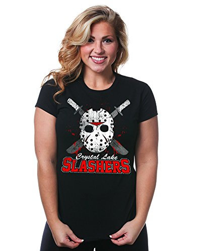 [Juniors Crystal Lake Slasher T-Shirt] (Best Cult Halloween Movies)