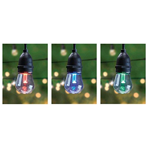 Fet Electric Feit 72018 30 Ft. 15 Bulbs Color Changing LED String Christmas Holiday Lights