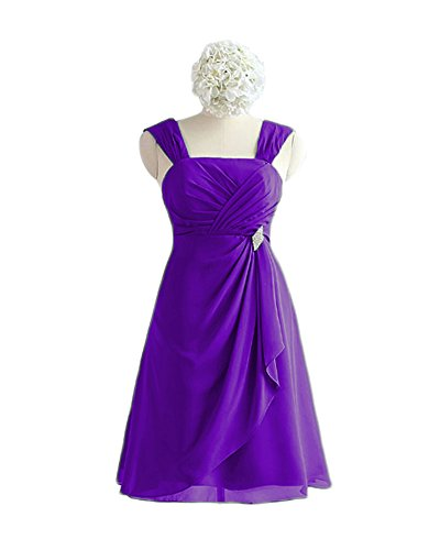 Dress Short Homecoming line Prom Purple Dresses A Chiffon Bridesmaid Dreagel Women Pqxw8Fp8