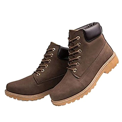 Zhuhaixmy Neue Mens Casual Stiefel Ankle Boot Schuhe Trainer Lace Up Walking Work Schuhe Braun