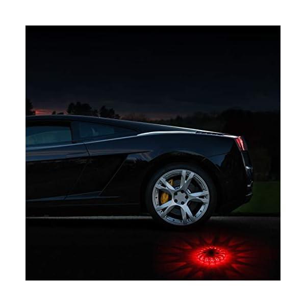 Indicadores luminosos de seguridad LED para carretera Luces de seguridad recargables para el automóvil 9 modos Linterna… 12
