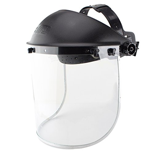 Clear-Polyethylene-Face-Shield-Black-ANSI-Z87-Protective-Faceshield