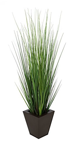 House of Silk Flowers Artificial 44-inch Grass in Matte Brown Square Zinc For Sale