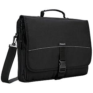 Targus Basic Messenger Case and Bag Designed for 15.6-Inch Laptop, Black (TCM004US)