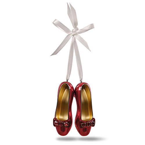 Hallmark Keepsake Christmas Ornament 2018 Year Dated, The Wizard of Oz Collectibles Ruby Slippers, Metal -