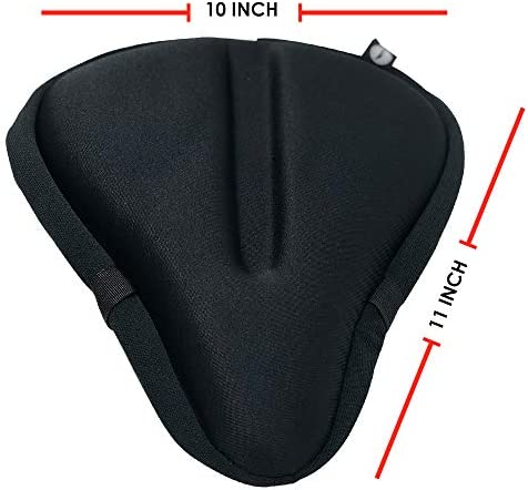 Pedal To The Medal Gel Bike Seat Cover Extra Soft and Wide Large