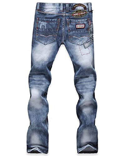 Stretch Vintage Uomo Pantaloni Hellblau In Denim Slim Strappati Skinny Jeans Fit I Battercake Comodo Destroyed wCSgx1tqw