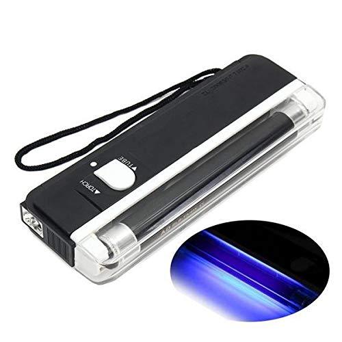 zilzol 4W Mini Portable UV Lamp Ultraviolet Black Money Detector Bank Notes Check Torch Flash Light