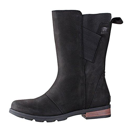 SOREL Women's Emelie Mid Boots, Black, 8 M US