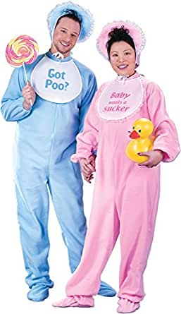 Be My Baby - Pink and Blue Jammies - Adult Couples Costume
