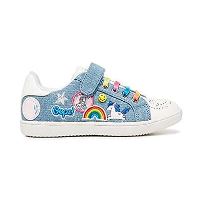 Clarks Girls Rainbow Fashion Shoes, Blue Denim, 1.5 US