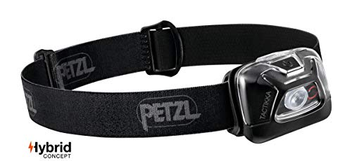 PETZL - TACTIKKA Headlamp, 300 lumens, Ultra-Compact Headlamp, Black