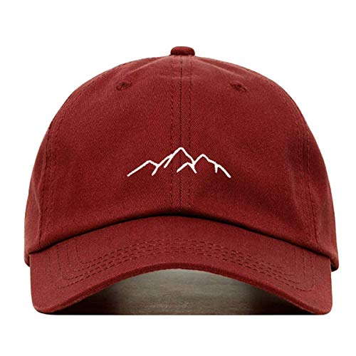 673ca41c Amazon.com: Mountains Dad Hat, Embroidered Baseball Cap, 100% Cotton,  Unstructured Low Profile, Adjustable Strap Back, 6 Panel, One Size Fits  Most (Multiple ...