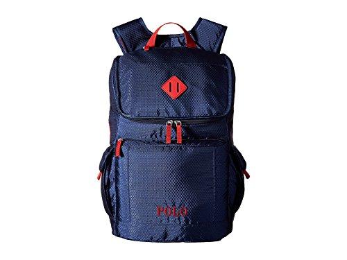 Polo Ralph Lauren Children's Felixstow Backpack,Navy/Red,US (Polo Ralph Lauren Men Book Bag)