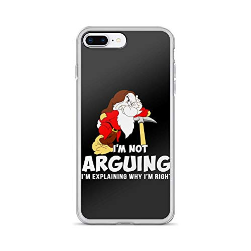 iPhone 7 Plus/8 Plus Pure Clear Case Cover Grumpy Dwarf I'm Not Arguing I'm Explaining Why I'm Right -