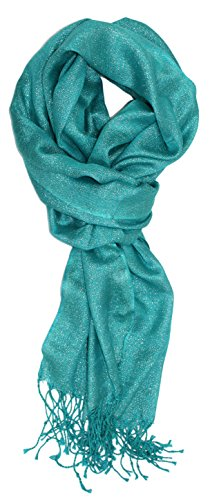 Ted and Jack - Hollywood Dreams Sparkling Metallic Scarf in (Teal Shimmer)