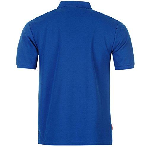 Slazenger Herren Poloshirt Polohemd Kurzarm Kragen-Ansatz Sommer Freizeit Top Blau Medium