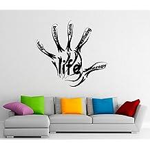 Life Fitness Wall Decal Vinyl Stickers Sport Gym Words Interior Home Design Art Murals Wall Graphics Decor