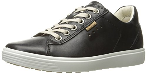 ECCO Women's Soft Fashion Sneaker, Black, 39 EU/8-8.5 M US