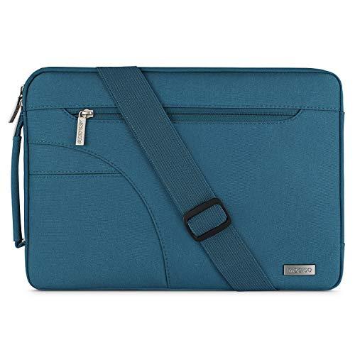 MOSISO Laptop Shoulder Bag Compatible 13-13.3 Inch MacBook Pro, MacBook Air, Ultrabook Netbook Tablet, Polyester Ultraportable Protective Briefcase Carrying Handbag Sleeve Case Cover, Deep ()