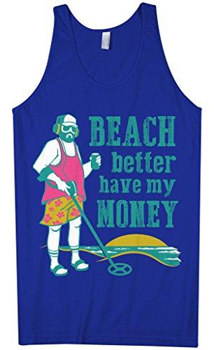 Threadrock Men's Beach Better Have My Money Tank Top L Royal Blue]()