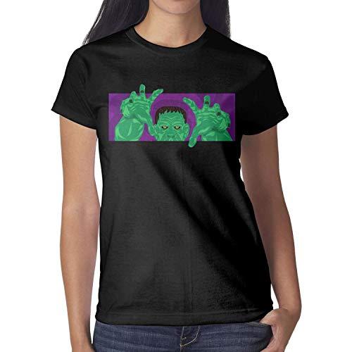 Melinda Halloween Scary Ghost Vampire Zombie Women tee Shirt Halloween Costumes for Women -