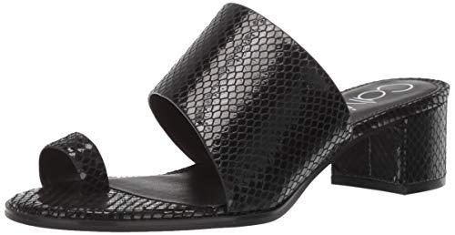 Print Sandals Calvin - Calvin Klein Women's Dionne Heeled Sandal, Black Snake, 7 M M US