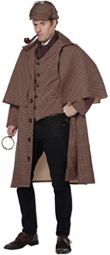 California Costumes Men's English Detective/Sherlock Holmes Adult Man Costume, tan/Brown, Medium -