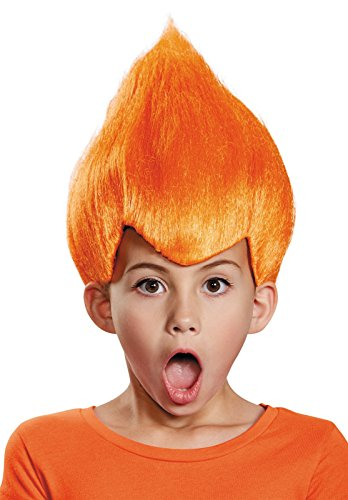 Orange Wacky Child Wig, One Size (Box Troll Halloween Costume)