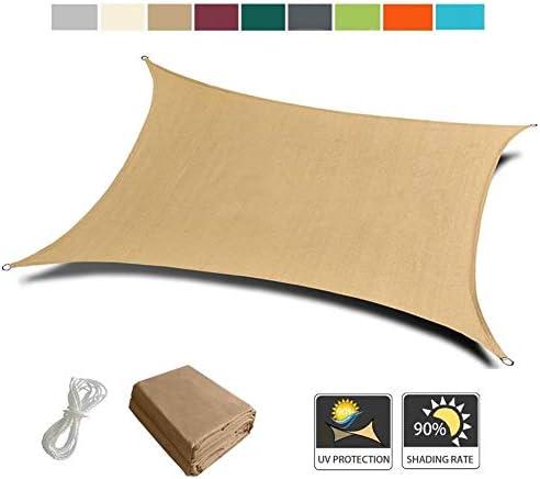NEVY - 防水 太陽シェード帆 矩形 95%UVブロック 9色と16サイズ フリーロープ付 ガーデンパティオパーティー日焼け止め日よけの天蓋 (Color : Sand, Size : 2.5x3m)