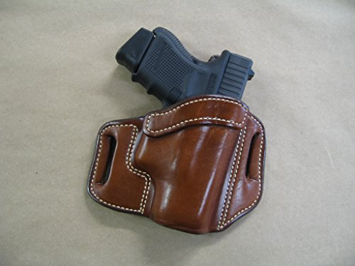 Taurus G2 millenium 9mm OWB Leather 2 Slot Molded Pancake Belt Holster CCW TAN (Millenium Leather)