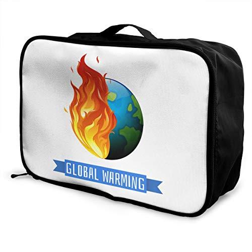 Global Warming Lightweight Large Capacity Portable Luggage Bag Fashion Travel Duffel Bag