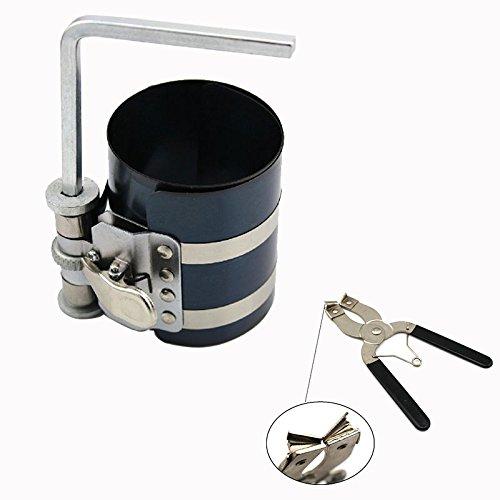Nirananda Installateur 7, 6cm pour segment de piston à cliquet Pince Remover Moteur Clé Outil à Main 6cm pour segment de piston à cliquet Pince Remover Moteur Clé Outil à Main