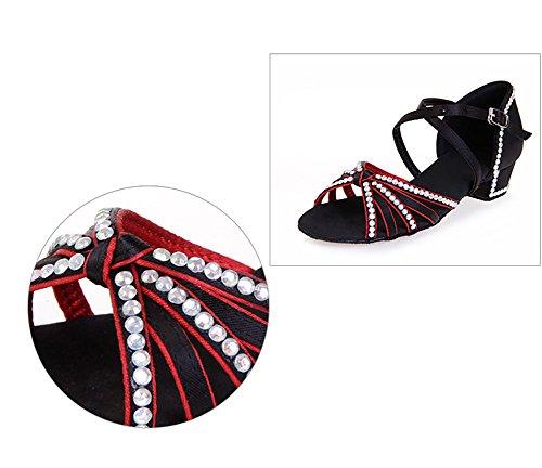 Danse Bas chaussures Latine Danse A Sandale Diamant Talons Fond De Chaussures Womens Mou Wymname wxB6qAC