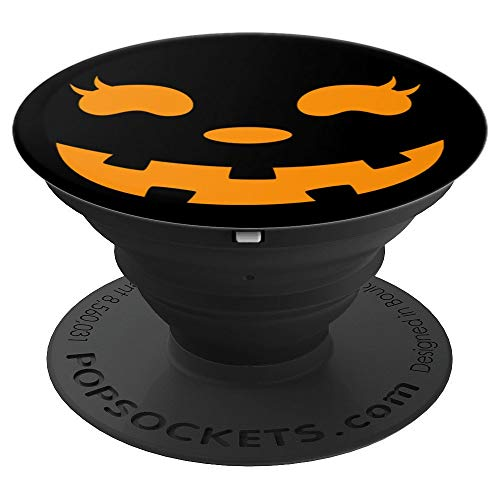 (Halloween Jill O Lantern Friendly Pumpkin Face - PopSockets Grip and Stand for Phones and Tablets)