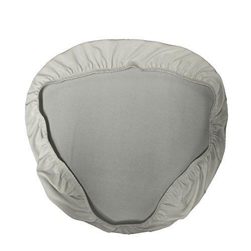 Chiavari Chair Covers (LA Linen Spandex Chiavari Chair Cushion Cover (4 Pack), Light Grey, Solid)