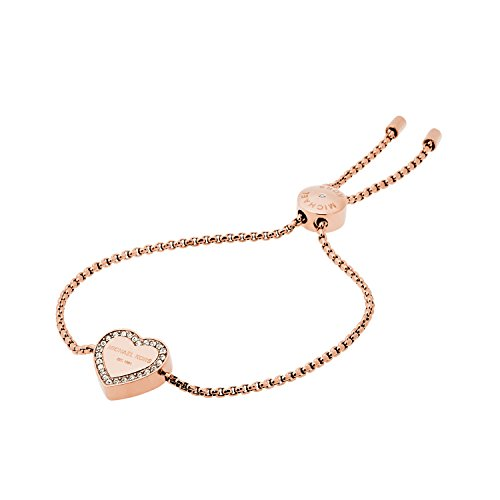 Michael Kors Logo Rose Gold-Tone Slider Bangle Bracelet