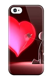 Tough Iphone Case Cover Case For Iphone 4/4s Touch My Heart
