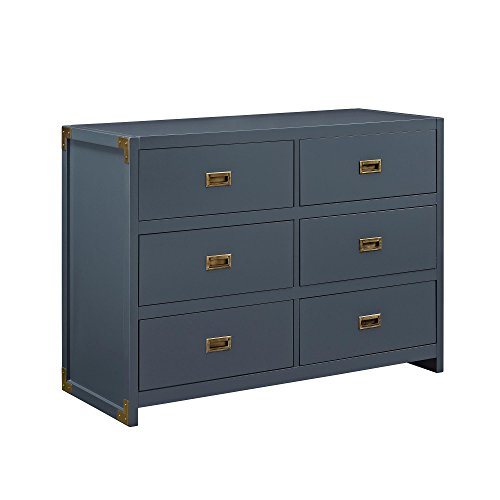 Baby Relax Miles 6-Drawer Dresser, Graphite Blue by Baby Relax
