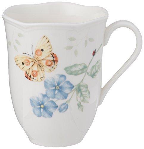 Lenox Butterfly Meadow Bone Porcelain Orange Sulphur Mug by Lenox -