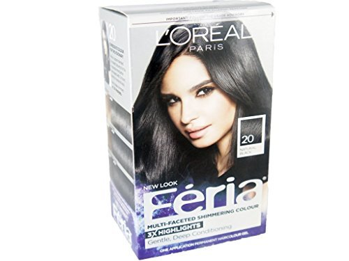 Loreal Feria - 20 Black Leather (Black), (Pack of 3)