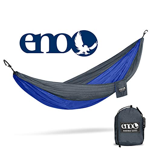 ENO - Eagles Nest Outfitters DoubleNest Hammock, Portable Hammock for Two, Charcoal/Royal