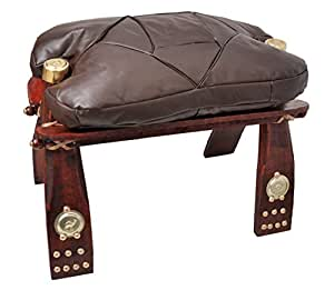 Handmade Leather and wood Camel Foot Stool STL-11