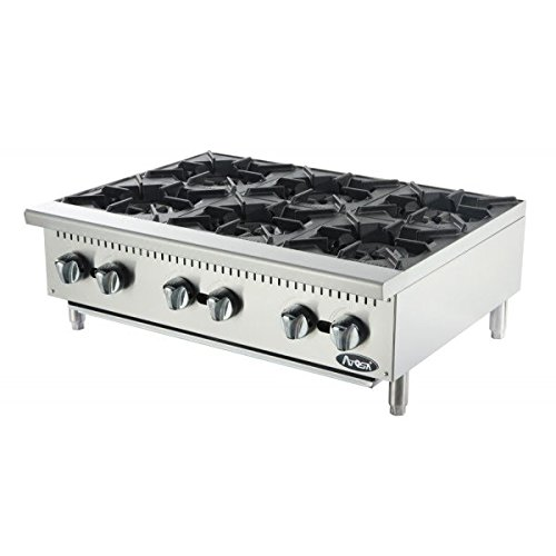 Atosa USA ATHP-36-6 Heavy Duty Stainless Steel 36-Inch Six Burner Hotplate - Natural Gas (Hot Plates For Cooking Gas compare prices)