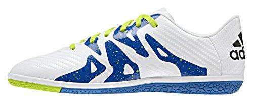 adidas X 15.3 in, Jungen Fußballschuhe, Weiß (Ftwr White/Core Black/Semi Solar Slime), 38 EU (5 UK)