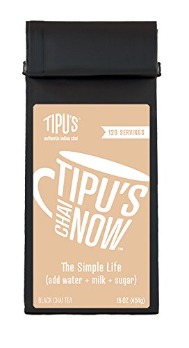 Tipu's Chai Now Unsweetened Chai Tea (16 ounce)