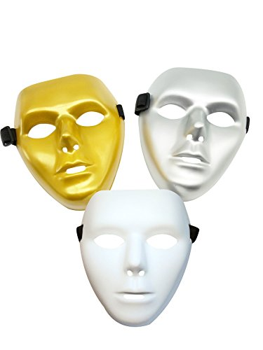 Wholesale Masquerade Masks On A Stick (Halloween Masquerade Cosplay Masks Pack of 3)
