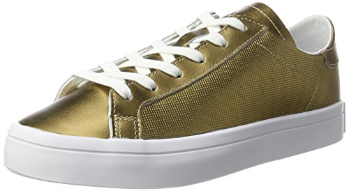 Dorado Courtvantage Copper para Copper Mujer Adidas Metallic Metallic Zapatillas White Footwear qHwTXWAIn
